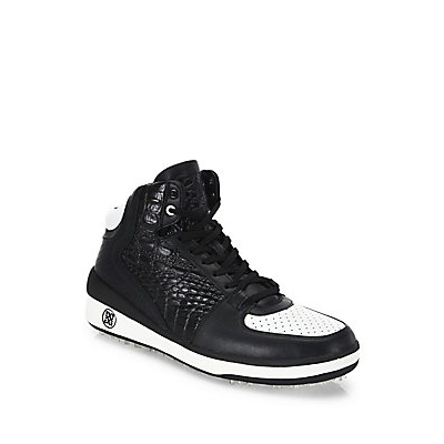 G/FORE Snow Crusader Leather High-Top Shoes