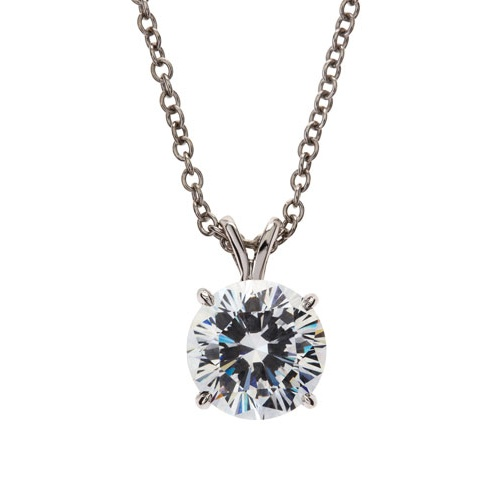 fantasia by deserio roundcut cz necklace