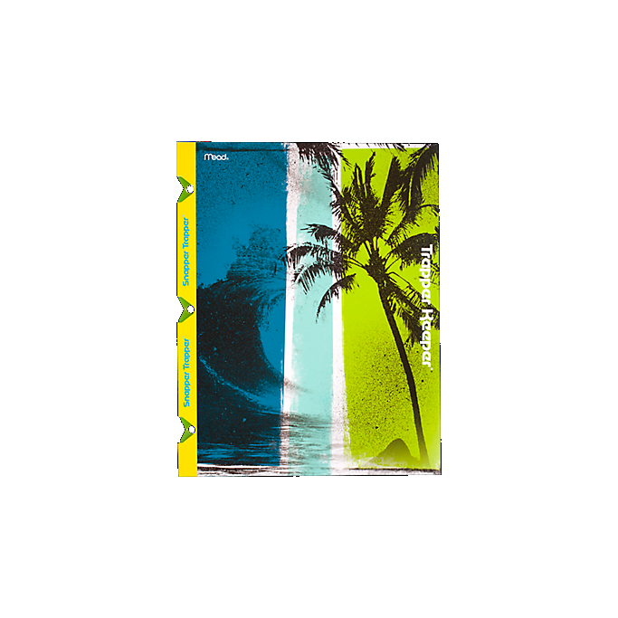 Leather Slimfold Wallet - Palm Trees & Beach Bliss by VIDA VIDA