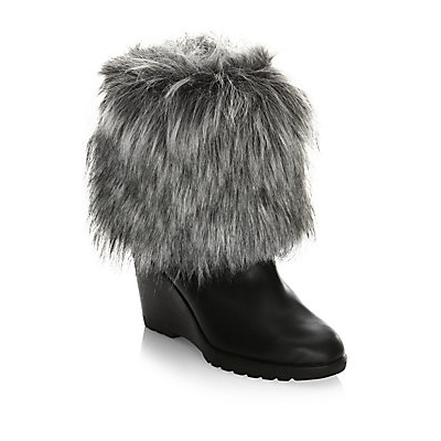 3fe04cf8cf81 Sorel Leather Boots with Faux Fur