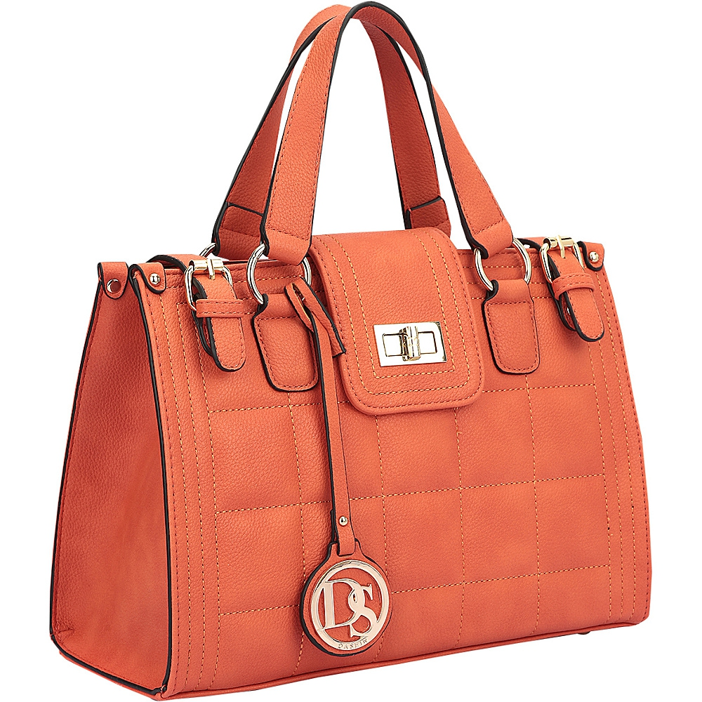 417db65b7d5 Dasein Quilted Satchel with Buckled Details