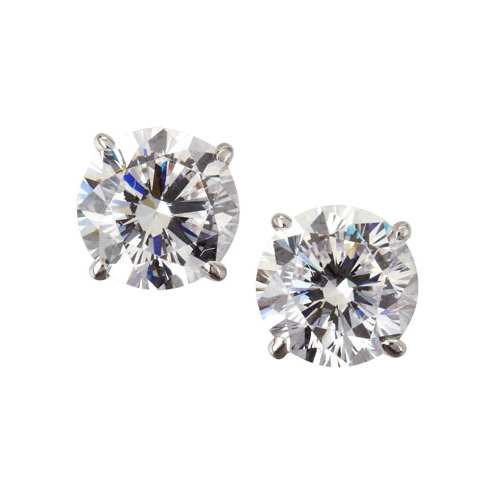 fantasia by deserio 14k white gold cubic zirconia stud earrings 20 t