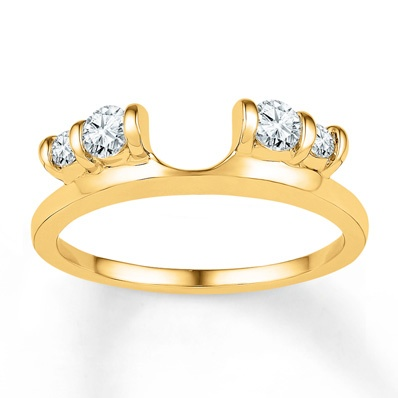 diamond enhancer ring 13 ct tw roundcut 10k yellow gold